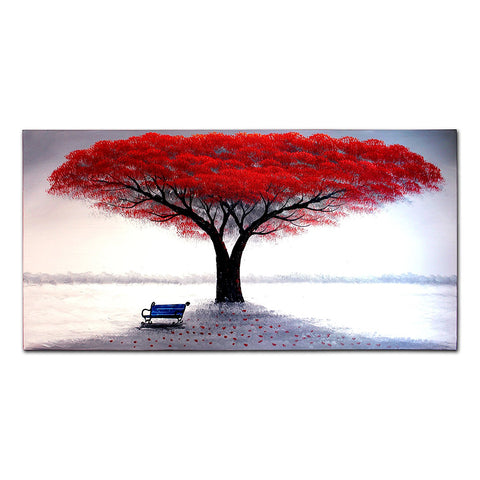 tree5 wall art painting red