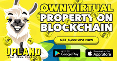 Upland Bonus UPX coin tokens for cryptop blockchain NFT mobile game at Upland.me
