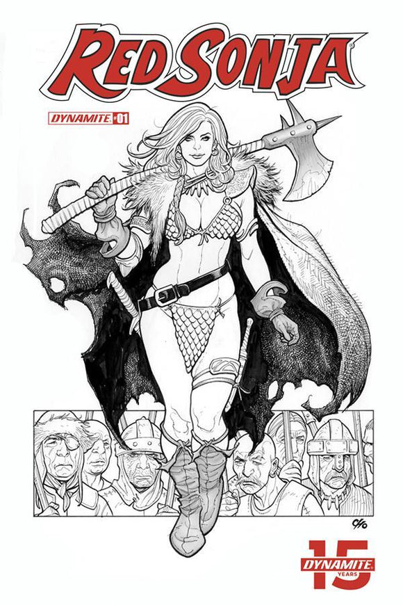 Red Sonja #1 L Black & White 1:40 Incentive Frank Cho Variant Nm Comic