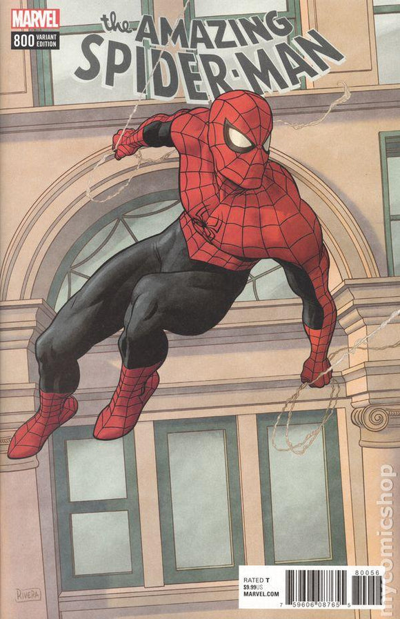 Amazing Spider-Man #800 S L Paolo Rivera Variant Vf+/nm+ 1St Print Comic