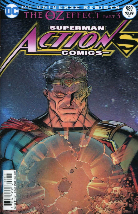 Action Comics #989 A Nick Bradshaw Lenticular Cover Vf+/nm+ Comic