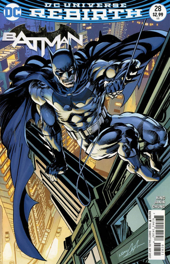 Batman #28 B Neal Adams Variant Dc Universe Rebirth Vf+/nm+ Comic