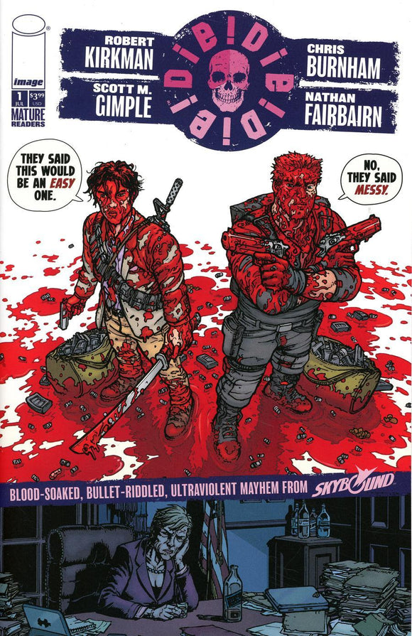 Die #1 E Burnham & Fairbairn Messy Variant Vf+/nm+ Comic