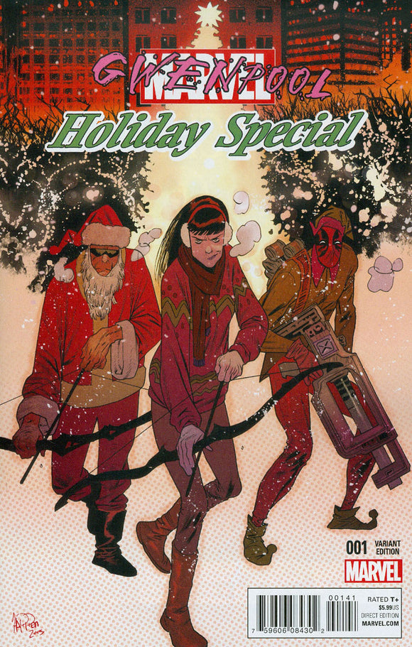 Gwenpool Holiday Special #1 E Deadpool Santa Variant VF+/NM+