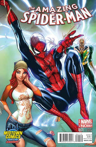 Amazing Spider-Man #1 B J Scott Campbell Color Variant Vf+/nm+ Comic