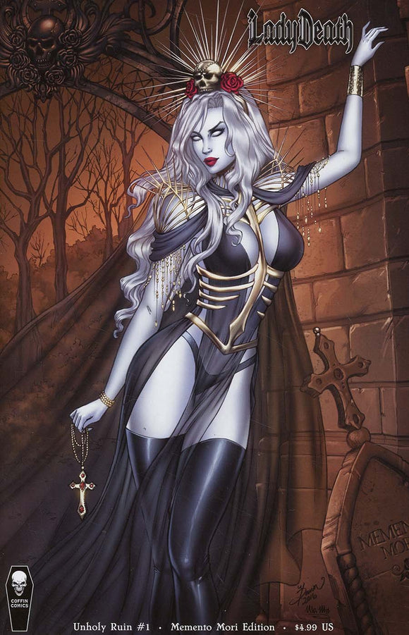 Lady Death Unholy Ruin #1 B Dawn Mcteigue Vf+/nm+ Coffin Comic