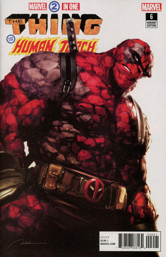 Marvel Two In One #6 B Gerald Parel Deadpool Variant Vf+/nm+ Comic