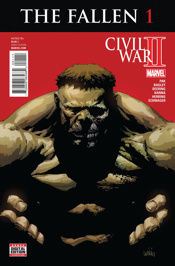 CIVIL WAR II The Fallen #1  Leinil Francis Yu VF+ /NM+