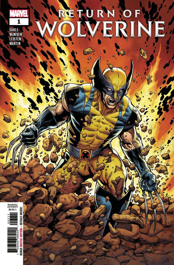 Return Of Wolverine #1 A Steve Mcniven Vf+/nm+ 1St Print Comic