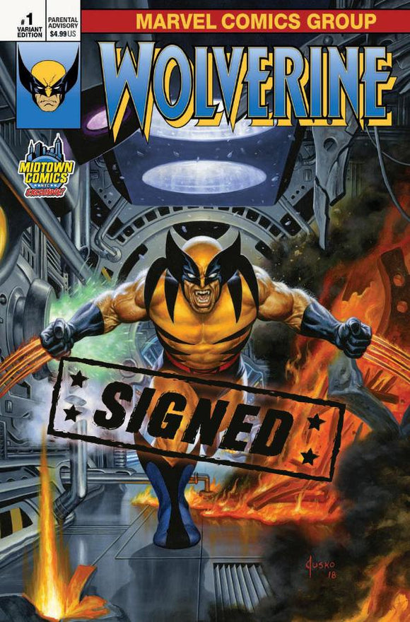 Return of Wolverine #1 C Joe Jusko Variant VF+/NM+ SIGNED by Soule