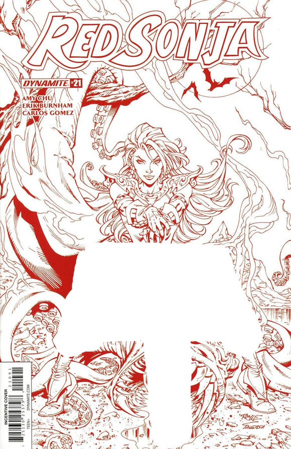 RED SONJA #21 I Blood Red  ROYLE Incentive 1:5 Variant NM