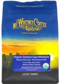 Organic Sumatra Gayo Mountain Coffee by Mt. Whitney Roasters 24 oz