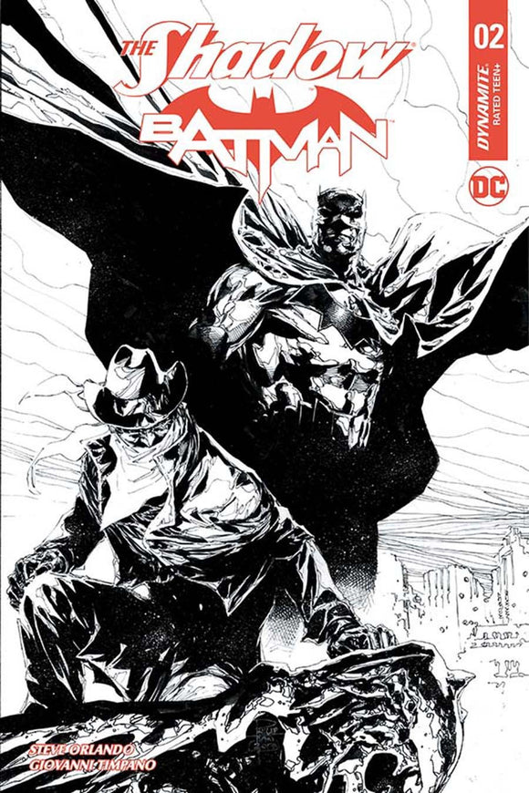 Shadow Batman #2F 1:10 Variant Philip Tan B&w Sketch Vf+/nm+ Comic