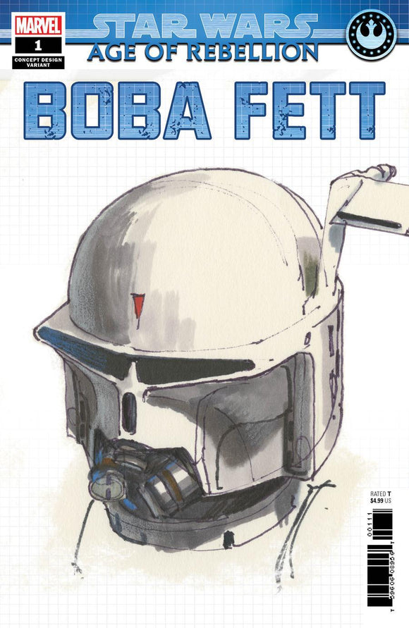 Star Wars Age Of Rebellion Boba Fett #1 B Concept Design Variant Nm Comic
