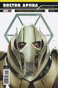Star Wars Doctor Aphra #21 B Rod Reis Galactic Icon Variant Grievous Vf+/nm+ Comic