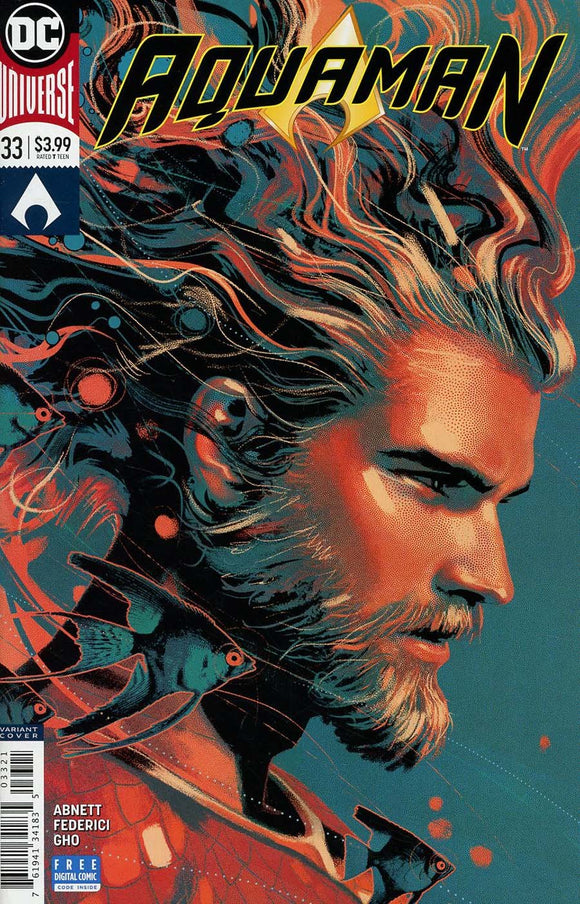 Aquaman #33 B Joshua Middleton Variant Vf+/nm+ 1St Print Comic