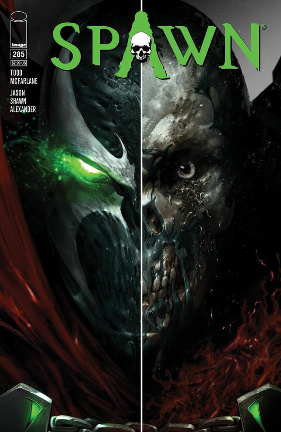 Spawn #285 A Francesco Mattina Split Face Vf+/nm+ Comic