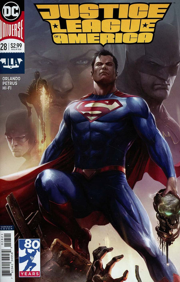 Justice League Of America #28 B Francesco Mattina 1St Print Vf+/nm+ Comic