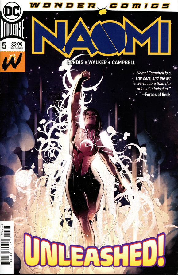 Naomi #5 Unleashed DC Wonder Comics 1st print NM