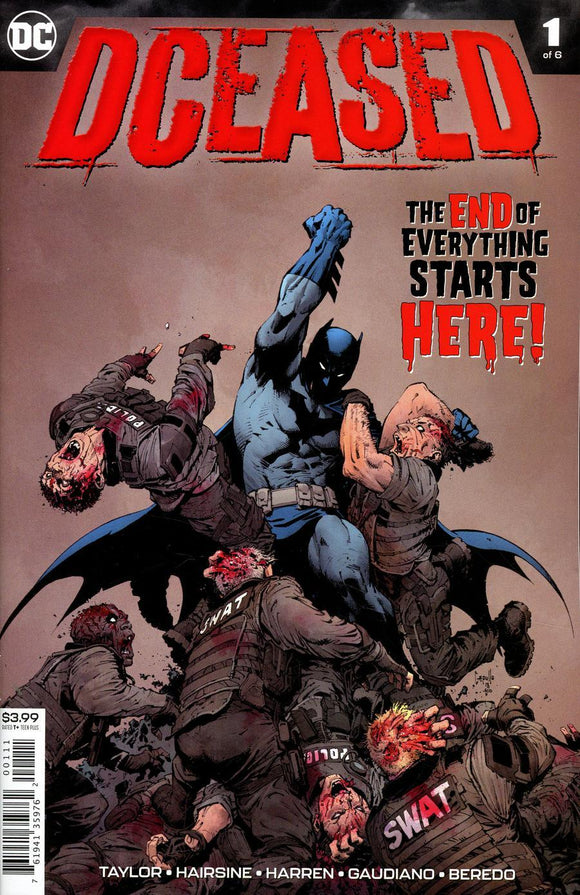 Dceased # 1 A Greg Capullo Vf+/nm+ 1St Print Comic