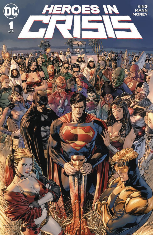 Heroes In Crisis #1 A Clay Mann Cover Vf+/nm+ Comic