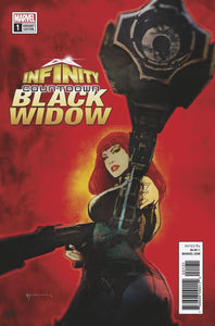 Infinity Countdown Black Widow #1 C Bill Sienkiewicz Variant Vf+/nm+ Comic