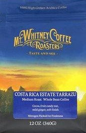Costa Rica Estate Tarrazu Medium Roast Coffee by Mt. Whitney Coffee Roasters 24oz