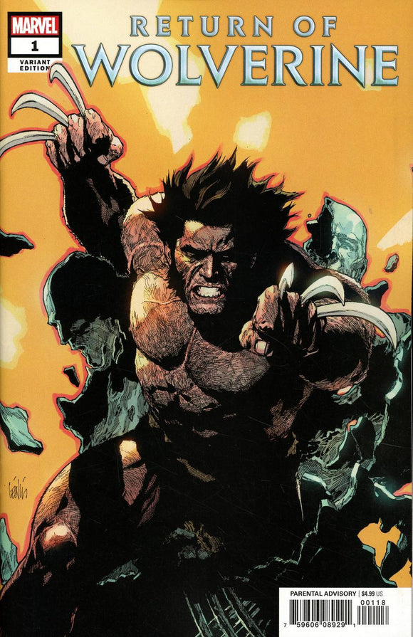 Return Of Wolverine #1 L Leinil Francis Yu 1:25 Variant Vf+/nm+ Comic