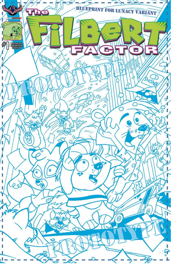 Filbert Factor #1 B Fcbd Blueprint Variant Vf+/nm+ 250 Comic