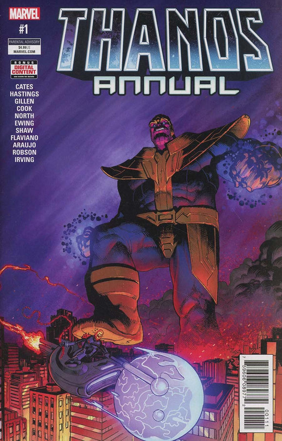 Thanos Annual #1 A Geoff Shaw 1St Print Vf+/nm+ 2018 Comic