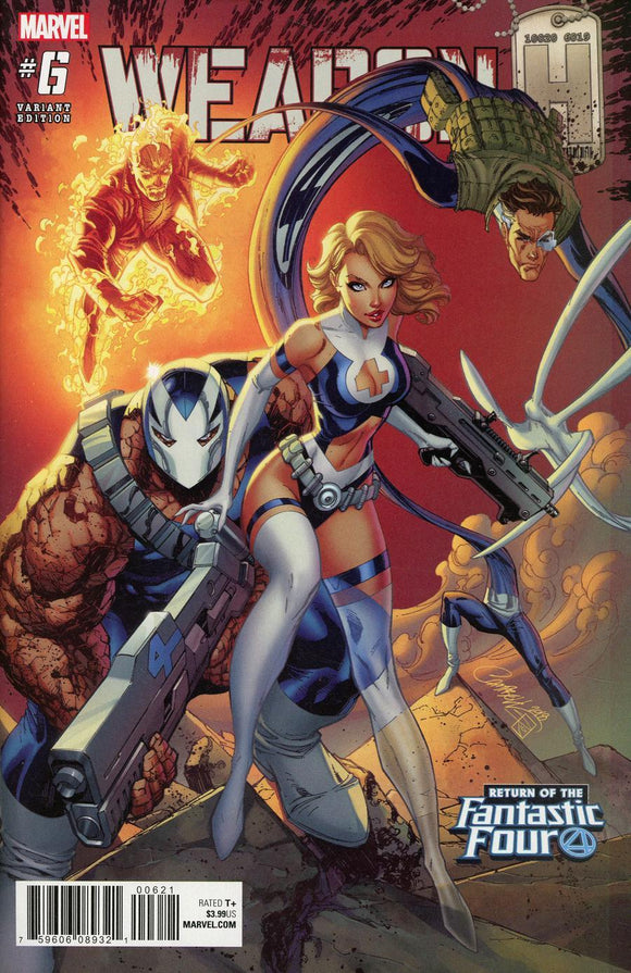 Weapon H #6 B J Scott Campbell Cover First 1St Printing Vf+/nm+ Comic