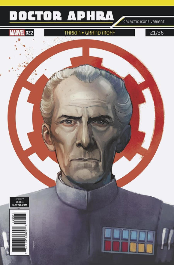 Star Wars Doctor Aphra #22 B Rod Reis Galactic Icon Variant Tarkin Vf+/nm+ Comic