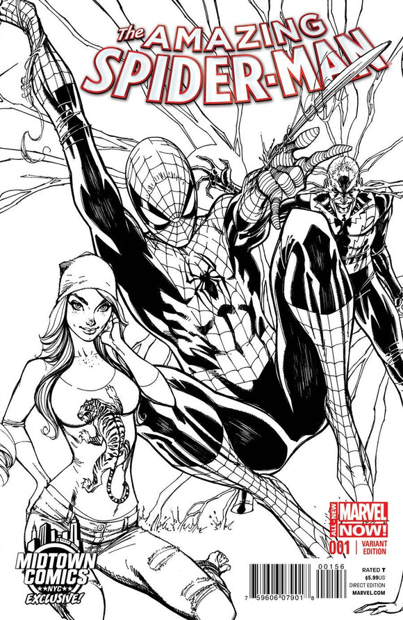 Amazing Spider-Man #1 C J Scott Campbell Sketch Variant Vf+/nm+ 1St Comic