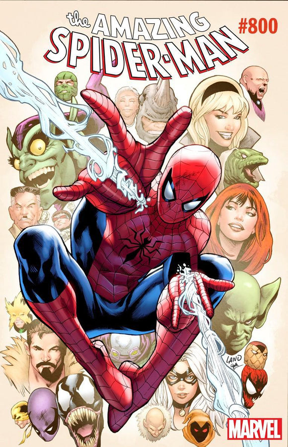 Amazing Spider-Man #800 G Greg Land Variant Vf+/nm+ 1St Print Comic