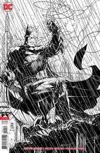 Justice League #1C Jim Lee B&w Sketch Variant Vf+/nm+ Comic