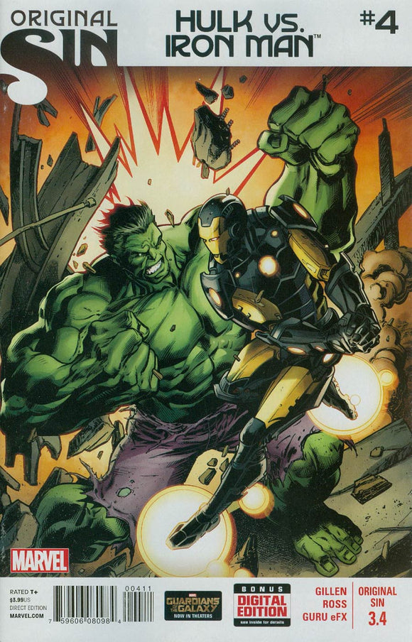 Original Sin #3.4 Hulk vs Iron Man Part 4 BAGLEY VF+/NM+