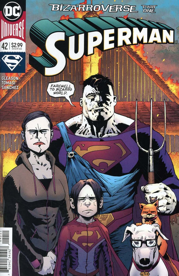 Superman Bizzarroverse #42 Patrick Gleason Vf+/nm+ 2018 Homage Comic