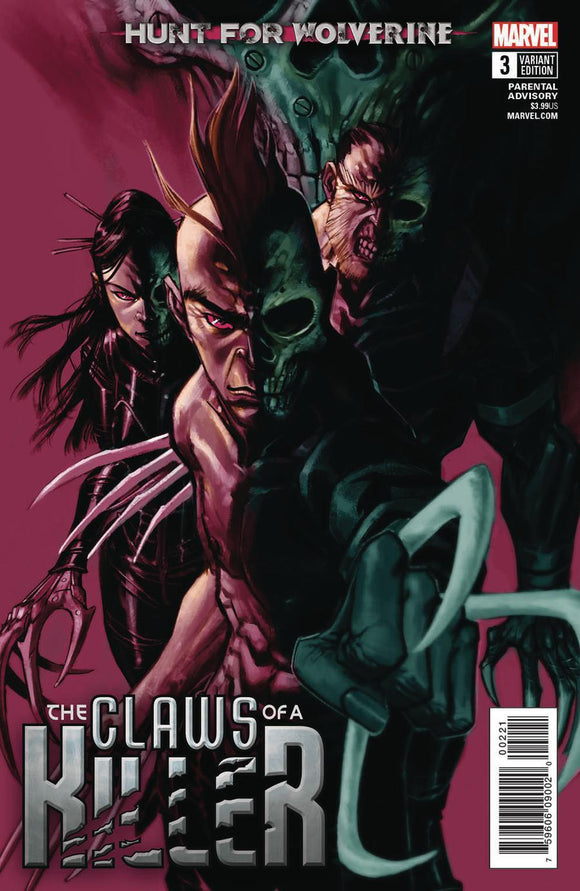 The Claws Of A Killer #3 B Eric Canete Variant Vf+/nm+ Comic