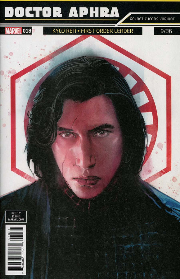 Star Wars Doctor Aphra #18 B Variant Rod Reis Galactic Icon Ren Vf+/nm+ Comic