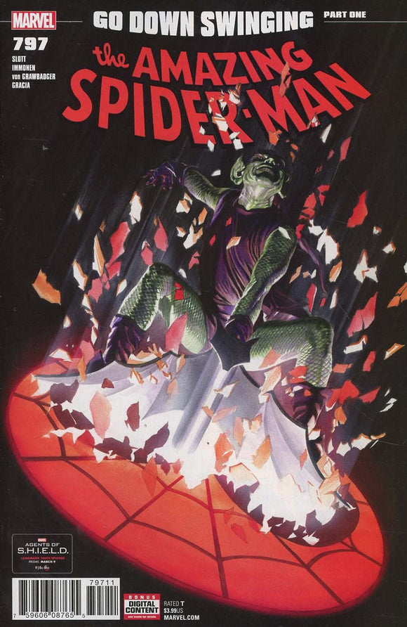Amazing Spider-Man #797 A Alex Ross Vf+/nm+ 2018 Sold Out Rare Comic