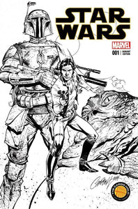 Star Wars #1 J Scott Campbell Cargo Hold Sketch Variant Vf/nm- Comic