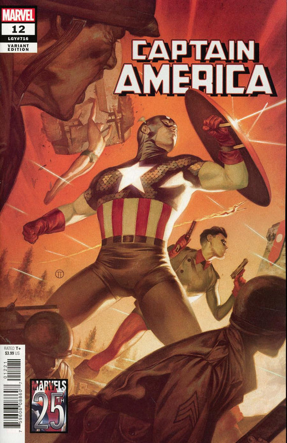 Captain America vol9 #12 C Totino Tedesco Marvels 25th Tribute Variant NM