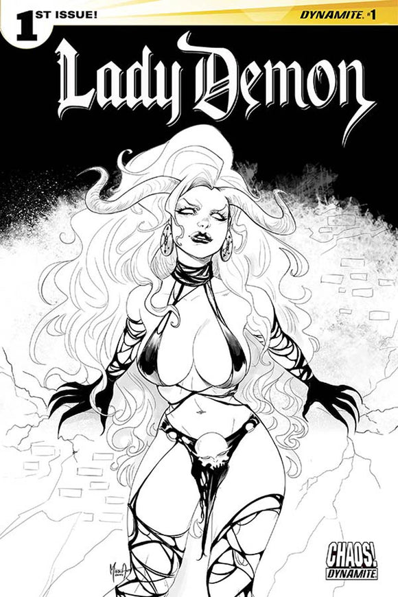 Lady Demon #1 H Incentive Andolfo Black & White variant VF+/NM