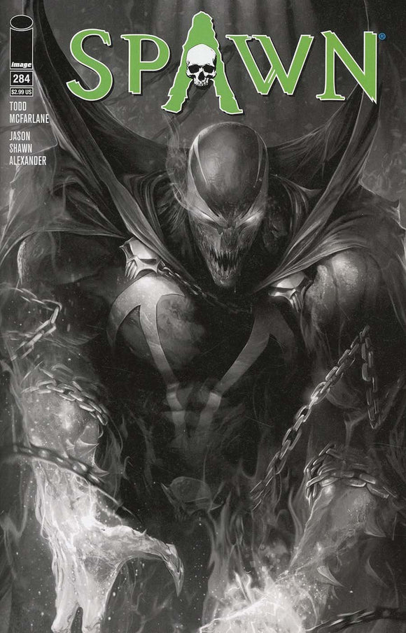 Spawn #284 B Francesco Mattina B&w Variant 1St Print Vf+/nm+ 2018 Comic