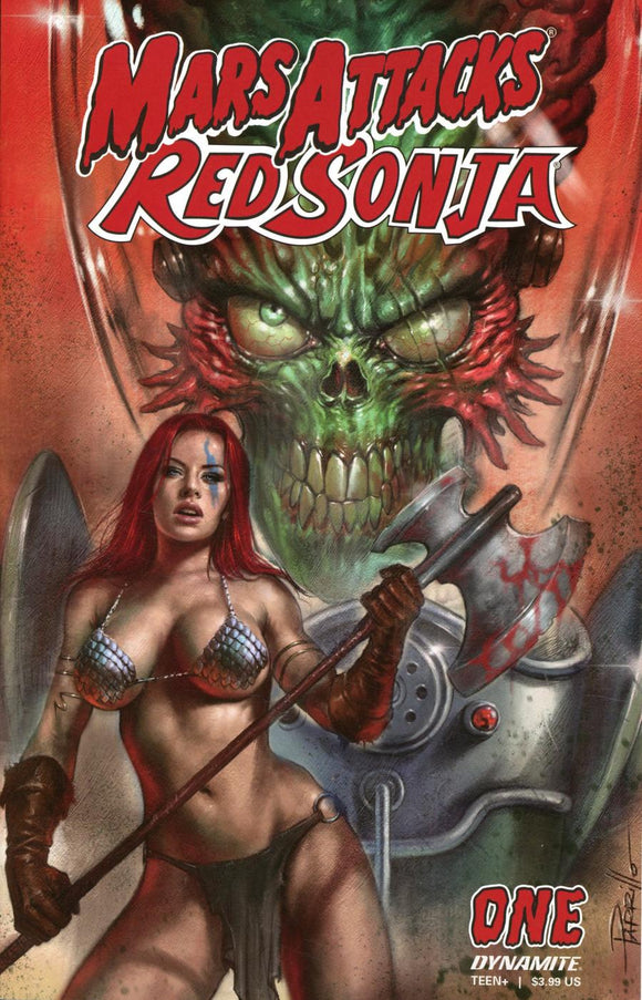 MARS ATTACKS RED SONJA #1 A Lucio Parrillo  VF+/NM+