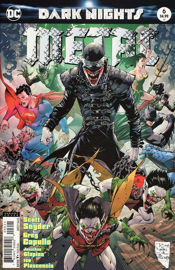 Dark Nights Metal #6 B Tony S Daniel Variant Vf+/nm+ Comic