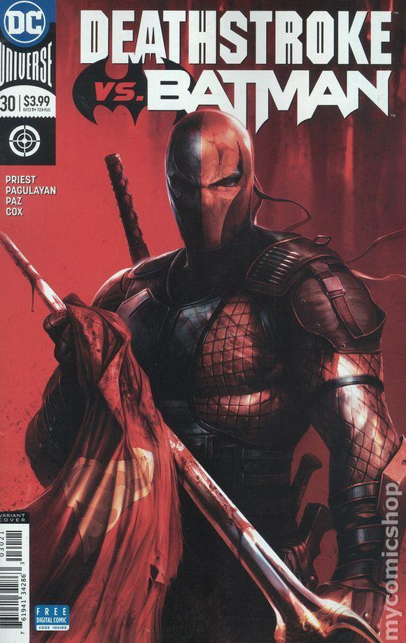 Deathstroke Vs Batman #30 B Francesco Mattina Variant 1St Print Vf+/nm+ Comic