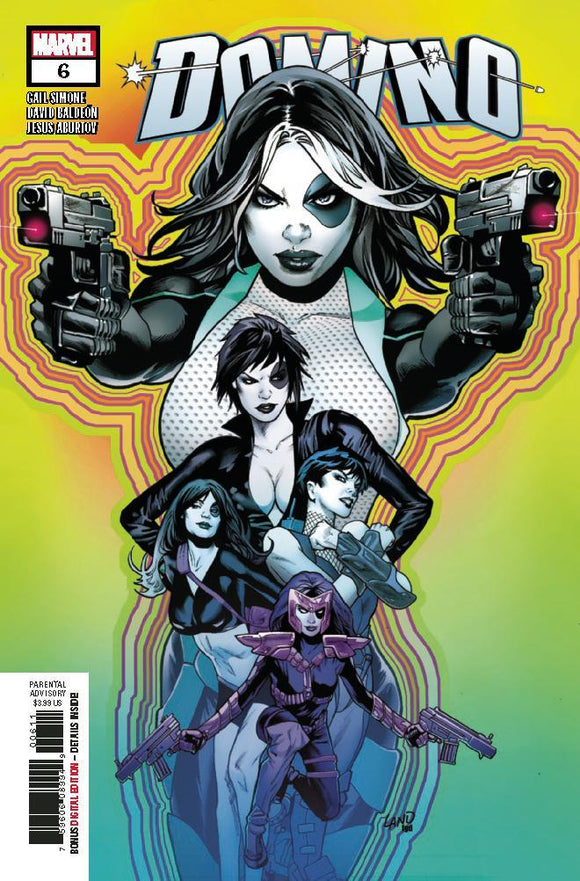 Domino #6 Greg Land Vf+/nm+ 1St Print Comic