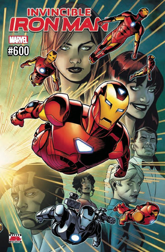Invincible Iron Man #600 Chris Sprouse Maleev Wraparound Vf+/nm+ Comic