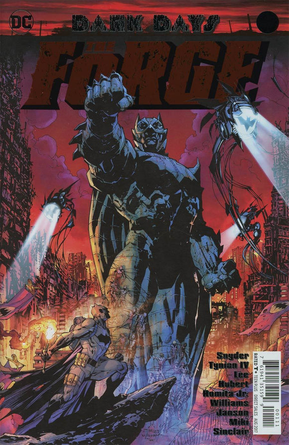 Dark Days The Forge #1 A Jim Lee Foil Vf+/nm+ Comic